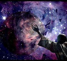 In the beginning God created the heavens and the earth. by Marie Luise  Strohmenger