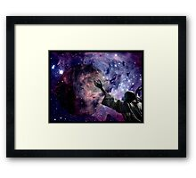 In the beginning God created the heavens and the earth. Framed Print