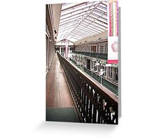 Historic Arcade Building Providence, RI Greeting Card