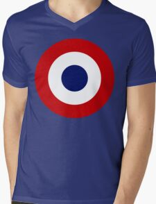 French Air Force Insignia Mens V-Neck T-Shirt