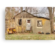Abandoned little house Canvas Print