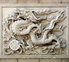 Wall carving, Tianming Si, Changzhou, China by DaveLambert