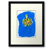 he was farewelled with flowers Framed Print