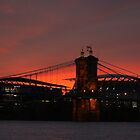 Paul Brown Stadium and Roebling Bridge by Tony Wilder