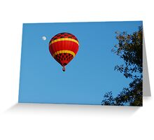 Red Balloon and the moon Greeting Card