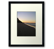 Scarness beach at sundown Framed Print