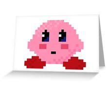 Kirby Pixel Greeting Card