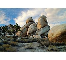 """Joshua Tree Rock Formations At Dusk"" Photographic Print"