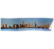 Miami Skyline Just After Sunrise Panoramic Poster