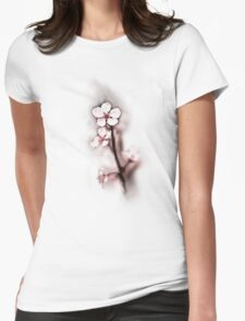Blooming Pink Womens Fitted T-Shirt