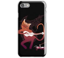 cute singing cat with a guitar after hunting iPhone Case/Skin
