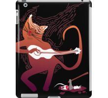 cute singing cat with a guitar after hunting iPad Case/Skin