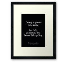 Broadway Danny Rose - Woody Allen's Greatest Lines Framed Print