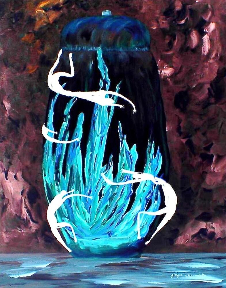 Dancers of the Blue Fire Jar by Ginger Lovellette