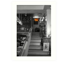 Cigar Store in Grey Art Print