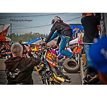 Motorcycle Superman Photographic Print