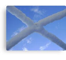 Saltire (snow and Scottish sky) Canvas Print