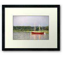 red yacht Framed Print