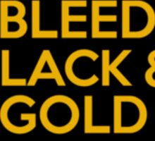 Iowa Hawkeyes I Bleed Black And Gold Sticker U of I Sticker