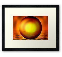 Glow Ball Framed Print