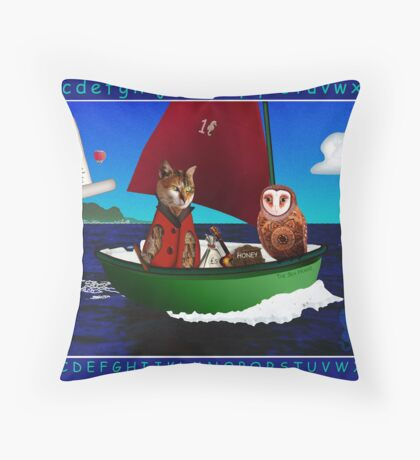 The Owl and the Pussycat Nursery Print Throw Pillow