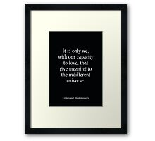 Crimes and Misdemeanors  - Woody Allen's Greatest Lines Framed Print