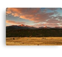 First Light On Longs Canvas Print