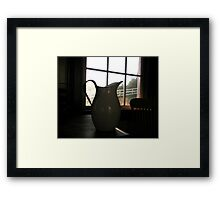 """""""Pitcher Sillhouetted"""" Framed Print"""
