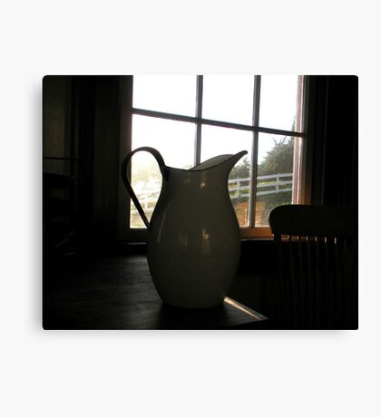 """""""Pitcher Sillhouetted"""" Canvas Print"""