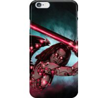 Robot Angel Painting 016 iPhone Case/Skin