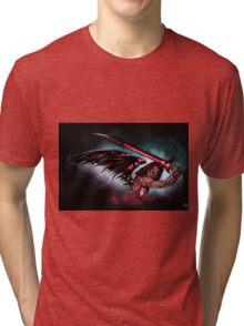 Robot Angel Painting 016 Tri-blend T-Shirt