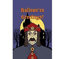 Vampire Castle Hallowe'en Greetings Photographic Print