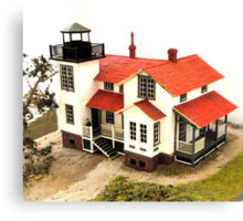 """Old Point San Luis Lighthouse - Scale Model"" Canvas Print"