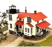 """Old Point San Luis Lighthouse - Scale Model"" Photographic Print"