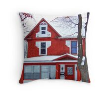 Winter Red Throw Pillow