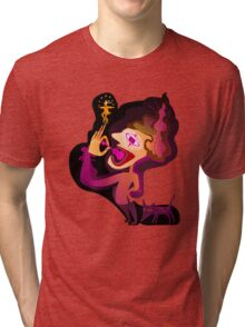 colorful clown and a dog Tri-blend T-Shirt