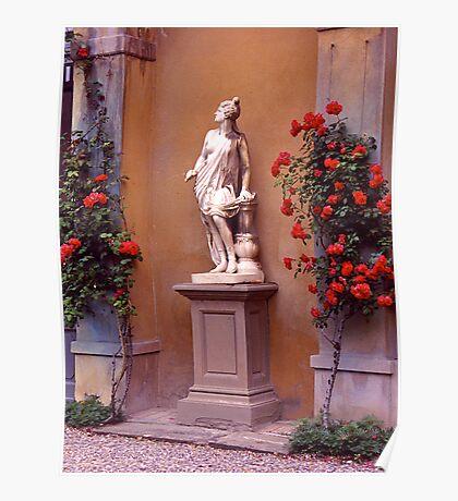 Garden Sculpture, Florence, Italy. Poster
