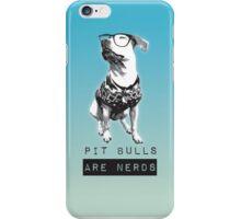 Pit bulls are Nerds iPhone Case/Skin