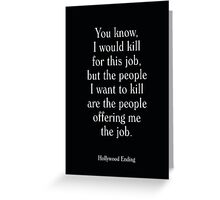 Hollywood Ending - Woody Allen's Greatest Lines Greeting Card