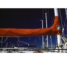 Red Sail Cover Photographic Print