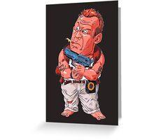 John McClane (Bruce Willis) - Akira Toriyama style Greeting Card