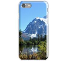 Mount Shuksan Between the Trees iPhone Case/Skin