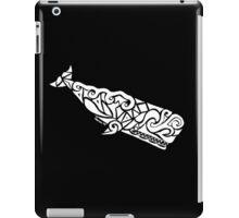 Sperm Whale Tribal Design - White iPad Case/Skin