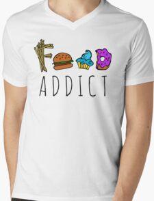 food addict Mens V-Neck T-Shirt