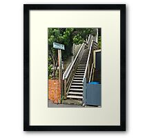 Pedestrians Only Framed Print