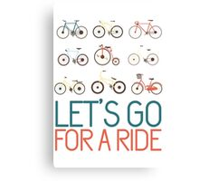 Let's go for a ride Canvas Print