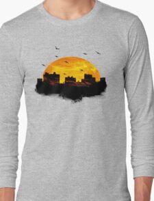 Cool Sunset - City Skyline - Cute Birds Long Sleeve T-Shirt