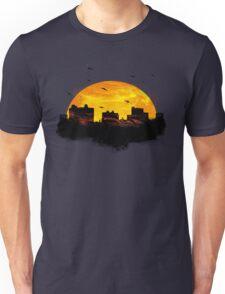 Cool Sunset - City Skyline - Cute Birds Unisex T-Shirt
