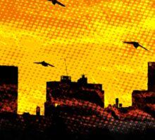 Cool Sunset - City Skyline - Cute Birds Sticker