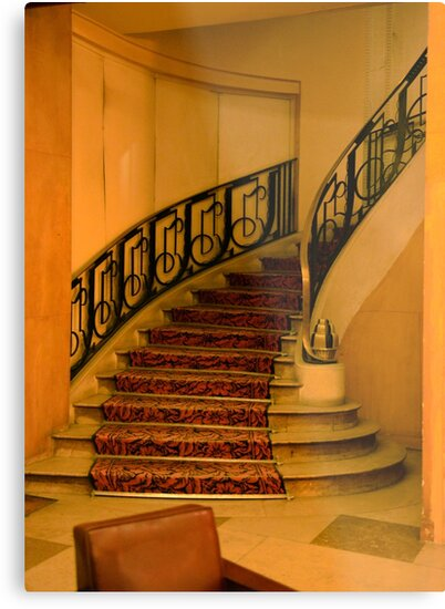 Hotel Paris Stairway by Thomas Barker-Detwiler